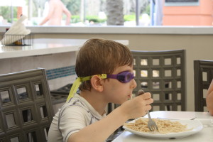 Doesn't everyone wear goggles and eat pasta?