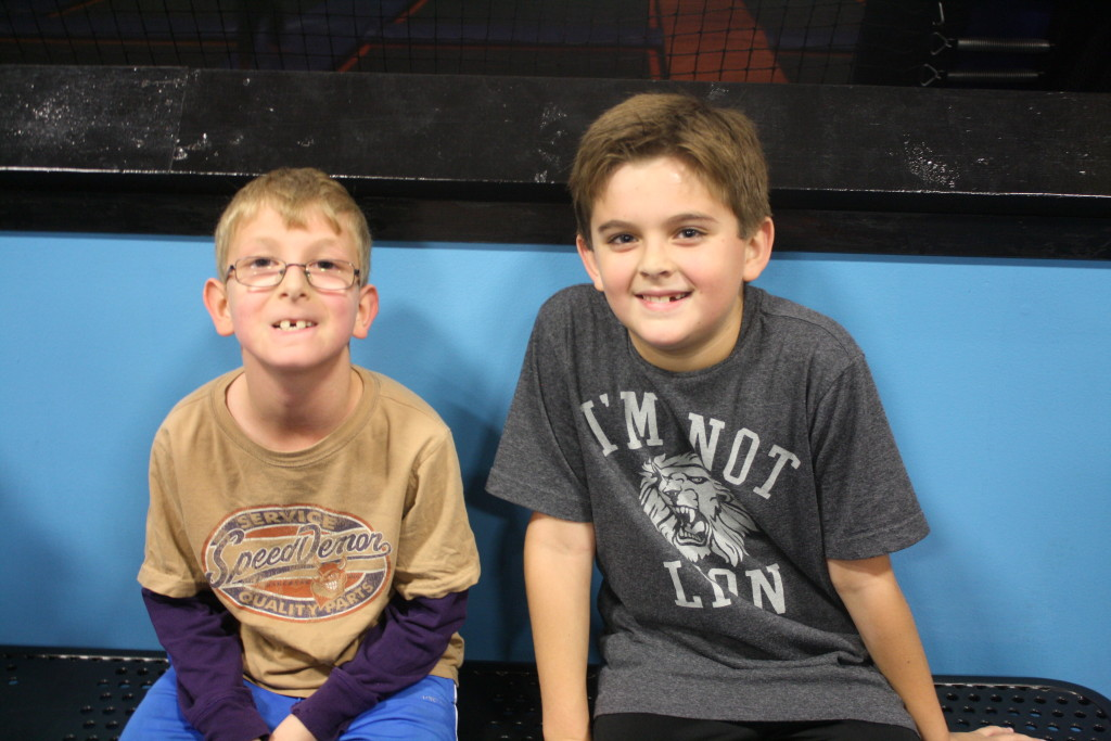 Evan and long-time camp friend Logan.
