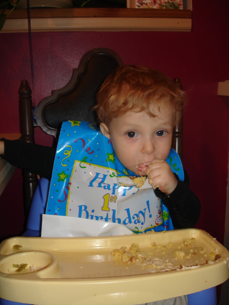 Evan's 1st birthday.