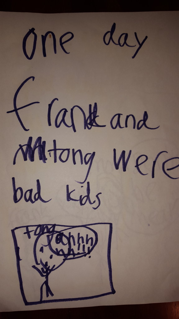 """One day Frank and Tong were bad kids. Tong: """"Ahhhh!!!"""""""